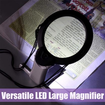 Hands-Free Lighted Reading Magnifier