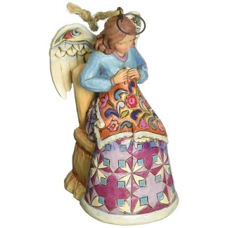Jim shore Heartwood Creek Sewing Angel Ornament