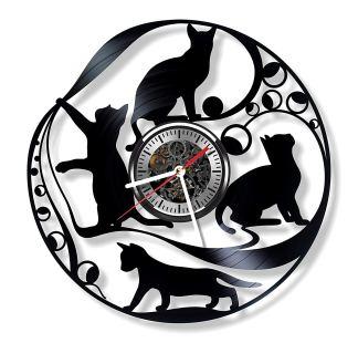 Cats Vinyl Wall Clock
