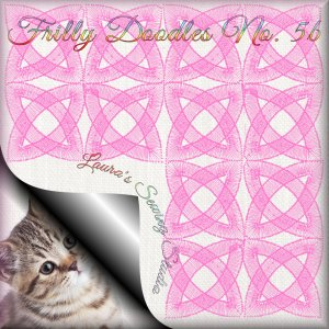 Freebie Machine Embroidery Design - Frilly Doodles No. 5b