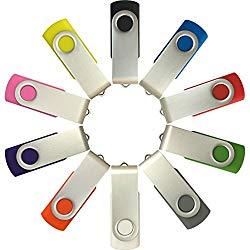Enfain USB 1GB Flash Drives - 10 Pack
