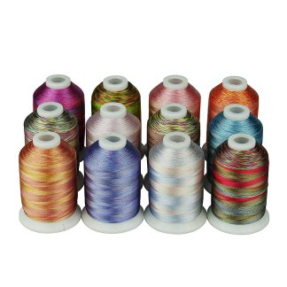 Smithreads 12-Pack Variegated Thread, 1000 Meter Spools