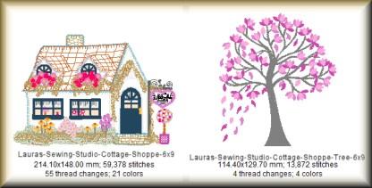 Cottage Shoppe 6x9 Design Details