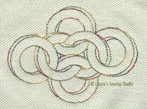 NutzNBoltz, machine embroidery, optical illusions, small motifs, variegated thread