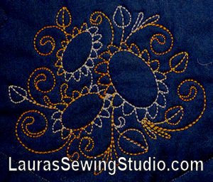 Sunflowers, Machine Embroidery, Variegated threads, floral
