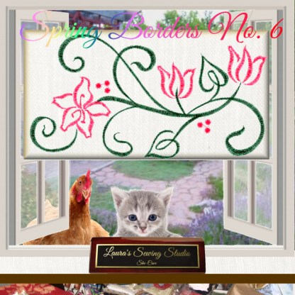 Spring Borders 6 - Free Embroidery Design
