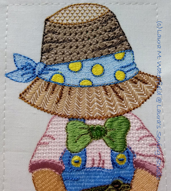 Lil' Sammy Sun Bonnet 5x7 Closeup