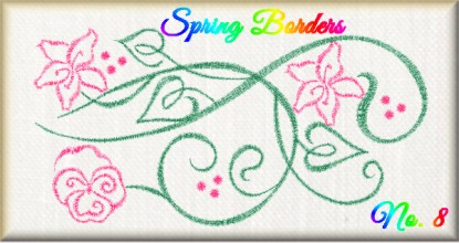 Spring Borders No. 8 Free Embroidery Design