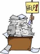 laurastyping stack of papers