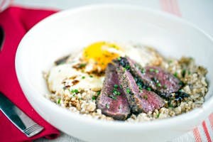 Steak 'n Eggs Oatmeal