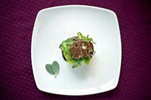 Venison steaks with compound butter