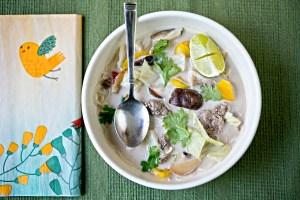 Tom Kha Soup with Venison