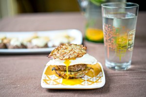 The potato pancake slider. Just look at that gooey yolk!