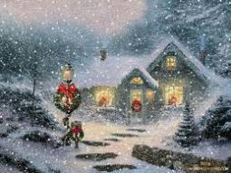 vintage christmas snow