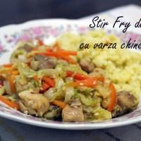Stir fry de pui cu varză chinezească