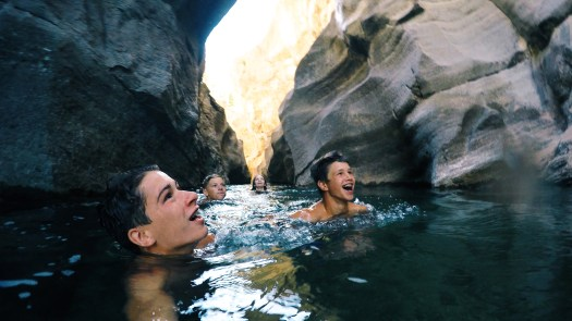 Swimming down the gorge shot on the GoPro!