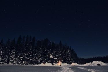 Our Quinzee Village under the stars