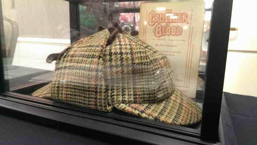 Deerstalker hat for Sherlock Holmes in THE CRUCIFER OF BLOOD.