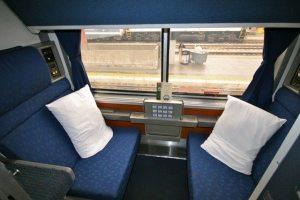 Amtrak Superliner roomette, from trainweb.org