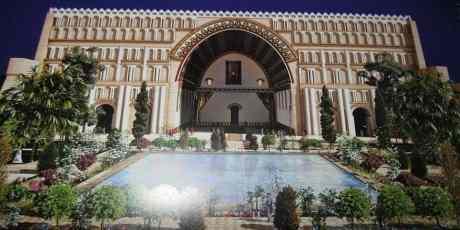 digital reconstruction of the palace at Tyspwn/Ctesiphon