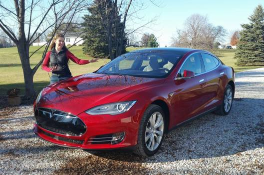 Laura and her Tesla