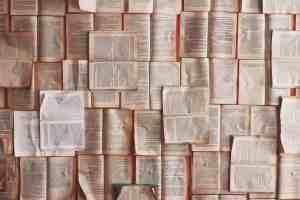 open books in huge array