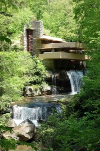 Frank Lloyd Wright's Falling Water house.