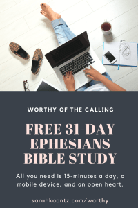 Worthy of the Calling Free Online Bible Study