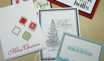 My Holiday Stamp Camp 2013 -Cards