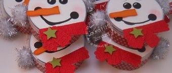 Upcycled Snowmen