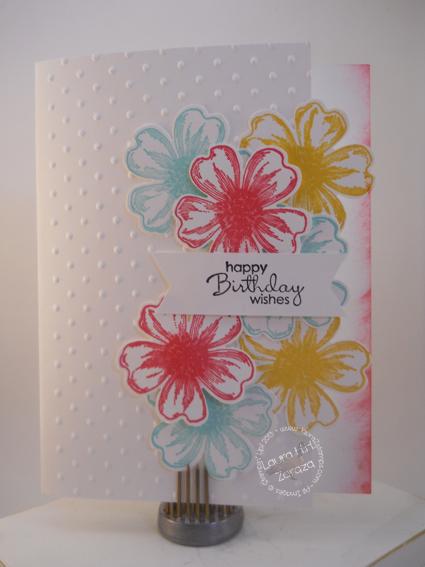 Floral Card with Strawberry Slush