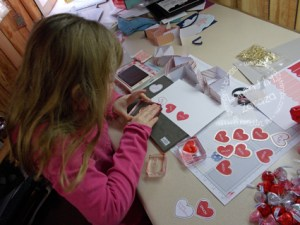 Addie-busy-stamping