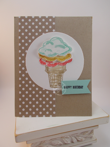 Dots and Ice Cream card