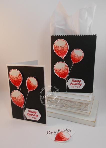 Elegant Red Balloon Birthday