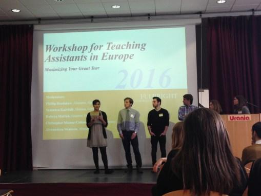Presenting at the ETA Panel