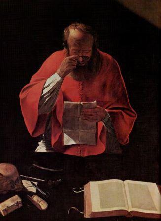 Saint Jérôme lisant, par Georges de La Tour.