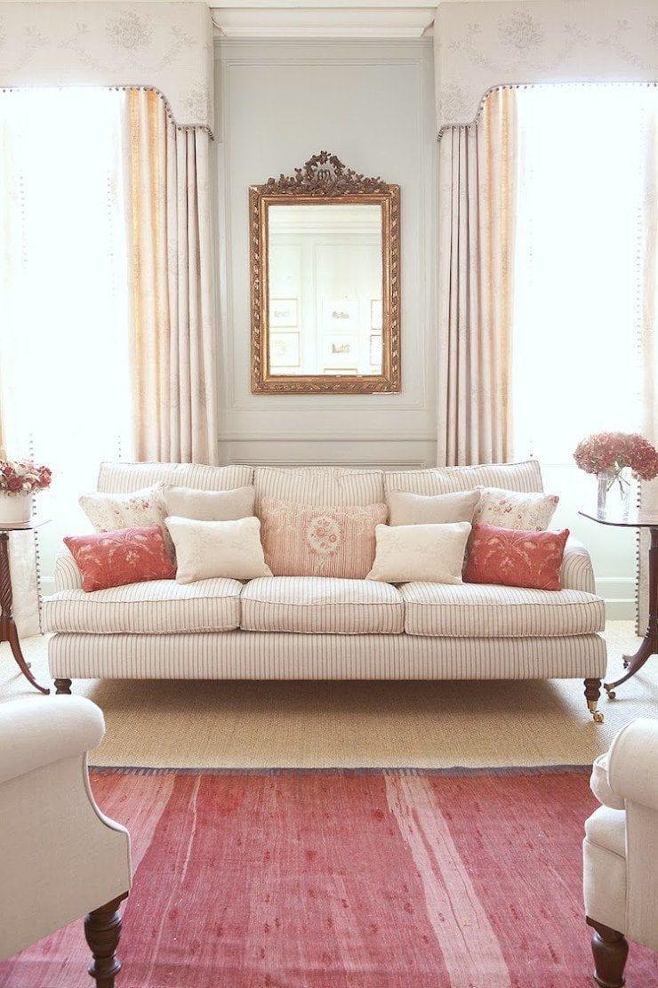 KF lr cushions on sofa-hydrangea-hill