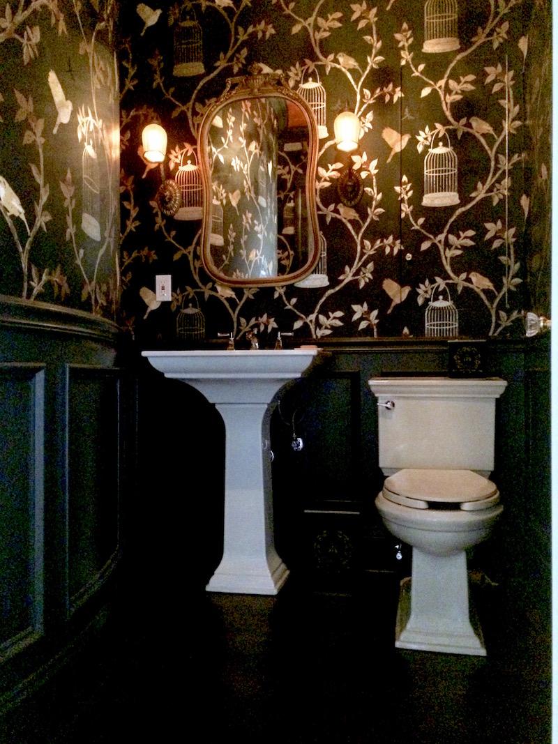 Mary Black Powder Room Kohler Sink Toilet Laurel Home