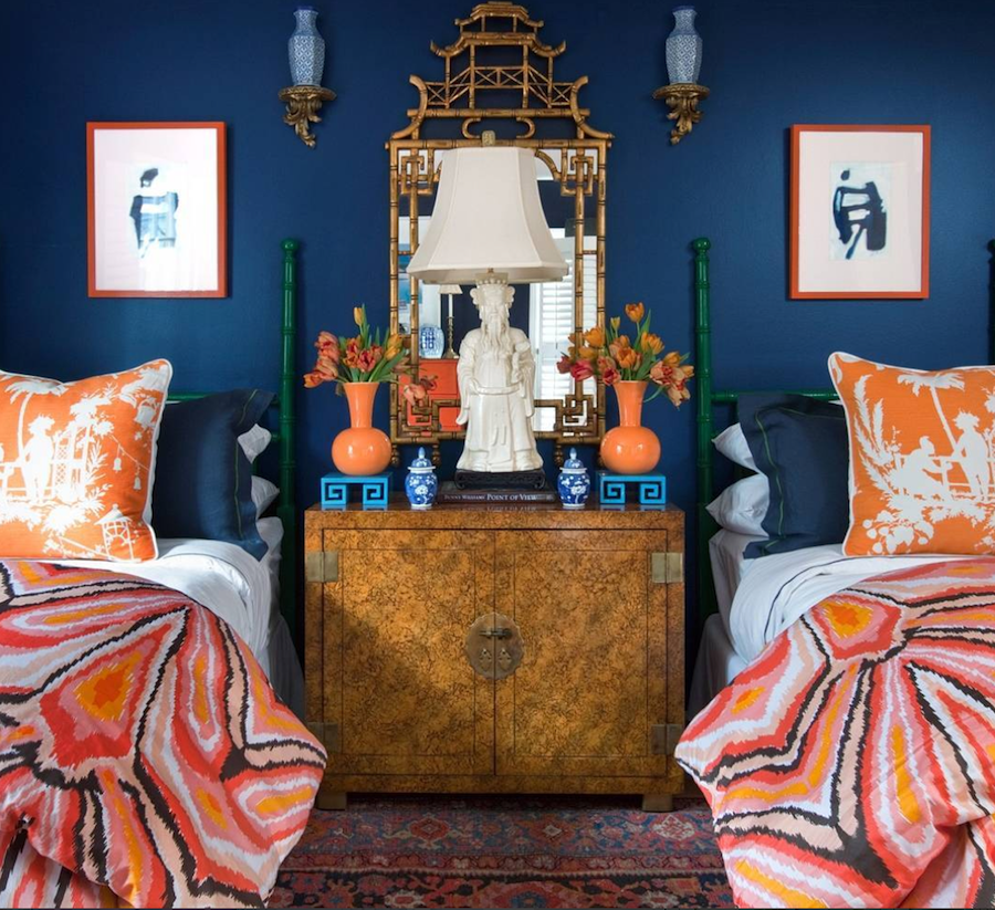 Parker Kennedy House Beautiful Bedroom Blue And Orange