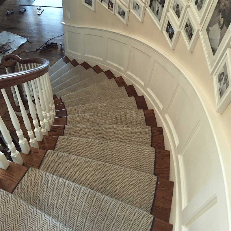 Stair Runners And The One Fiber You Should Never Use | Herringbone Carpet For Stairs | High Traffic | Textured | Classical Design | Striped | Carpet Stair Treads