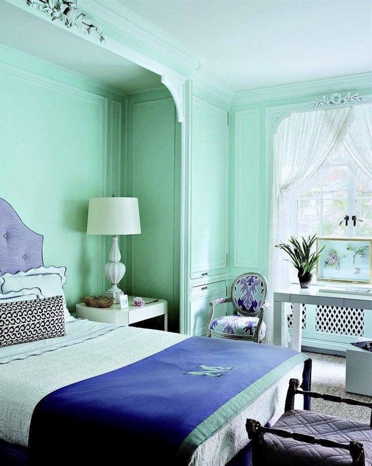 Tom Scheerer Lonny Mint Green Bedroom Walls Laurel Home