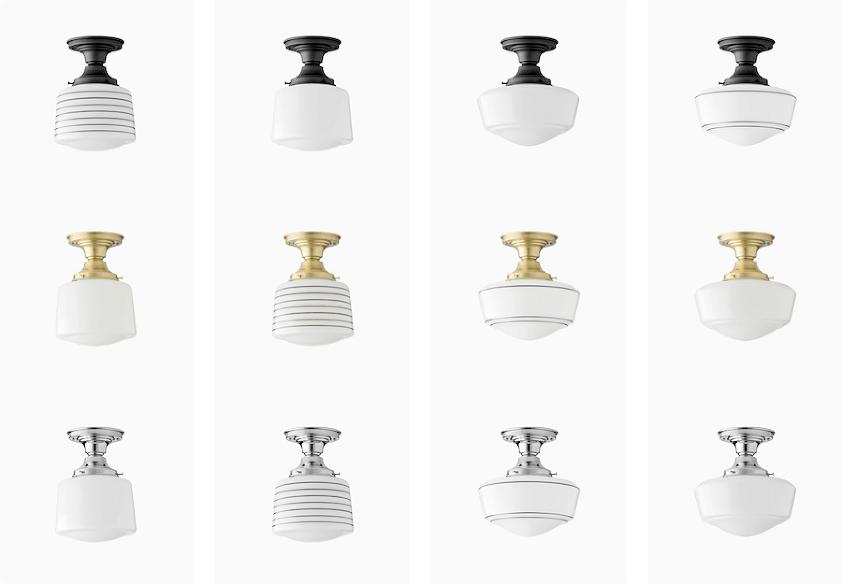 flush mount ceiling lights no boobs