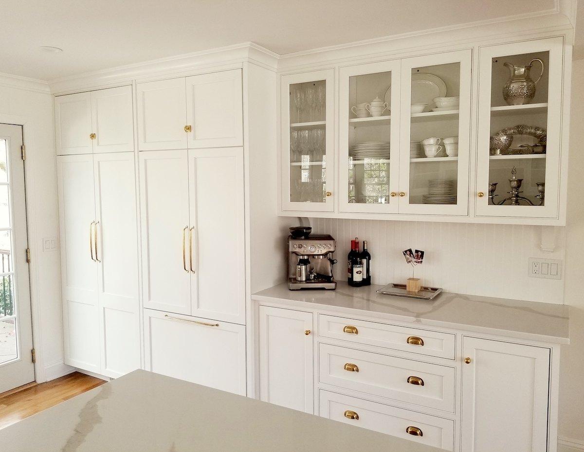 Virtual Kitchen Design Benjamin Moore Simply White Custom Kitchen Cabinets Hardware Rejuvenation Laurel Home