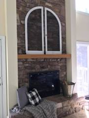 stone fireplace before