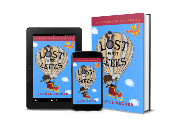 tablet phone ebook hardcover images of LOST WITH LEEKS