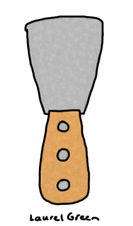 a drawing of a paint scraper