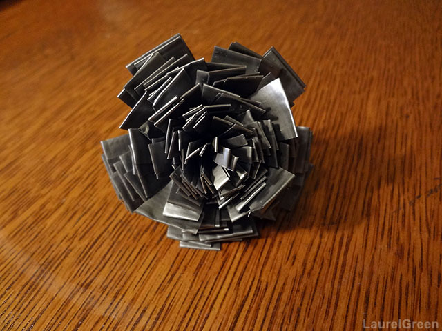 a photo of a flower made from duct tape