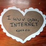 a photo a a badly made valentine