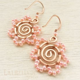 spiralflowerearrings