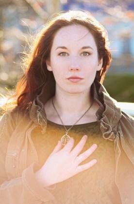 model in gouden licht, foto door JKFotohaus